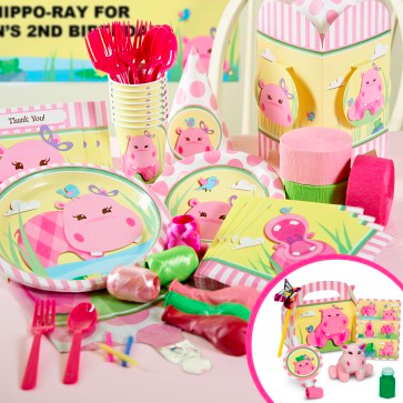 Hippo Pink Party Packs
