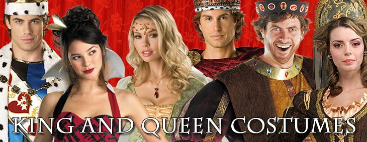 KING AND QUEEN COSTUMES Couples Costumes