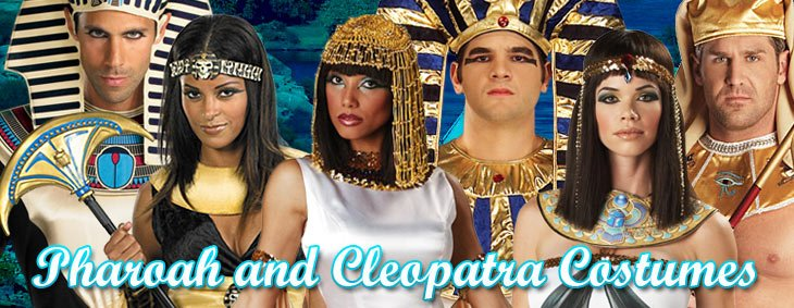 Pharaoh and Cleopatra Egyptian Couples Costumes