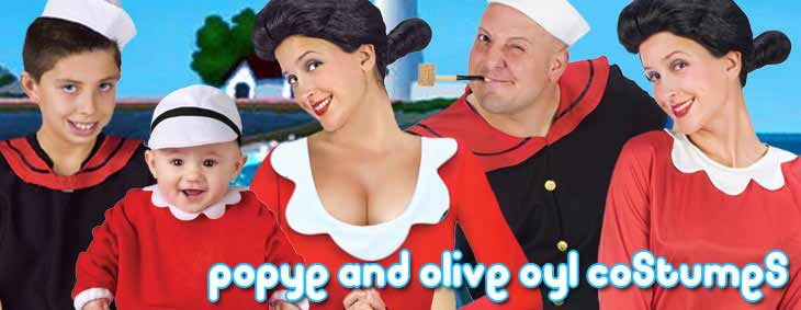 Popeye and Olive Oyl Couples Costumes