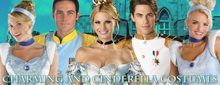Prince Charming and Cinderella Couples Costumes