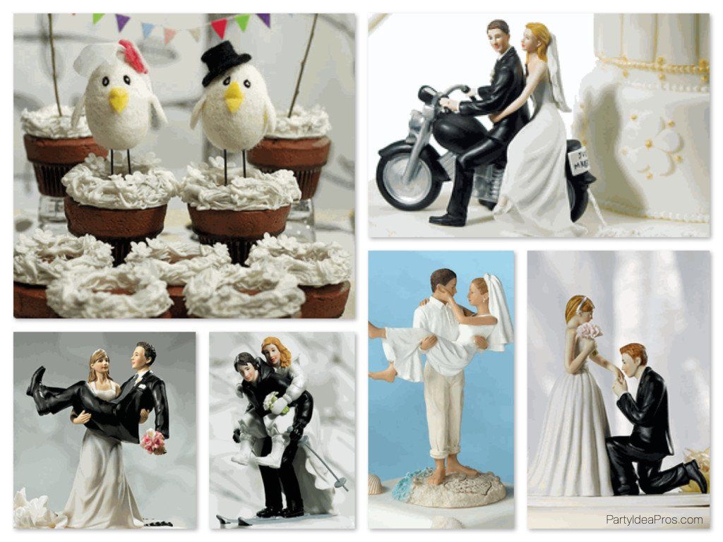 Quirky & Kitsch Wedding Cake Toppers