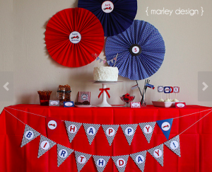 Red White & Blue Race Car Party Printable Collection