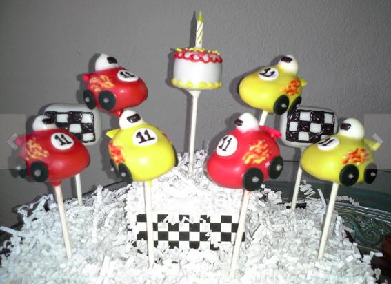 Race Cars Cake Pops