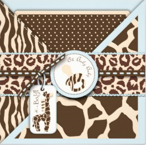 Safari Boy Invitation Square