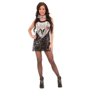 Sequin Tuxedo Dress Costume