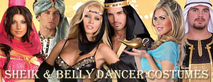 Sheik and Belly Dancer Couples Costumes