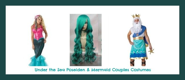 Under the Sea Poseiden and Mermaid Couples Costumes
