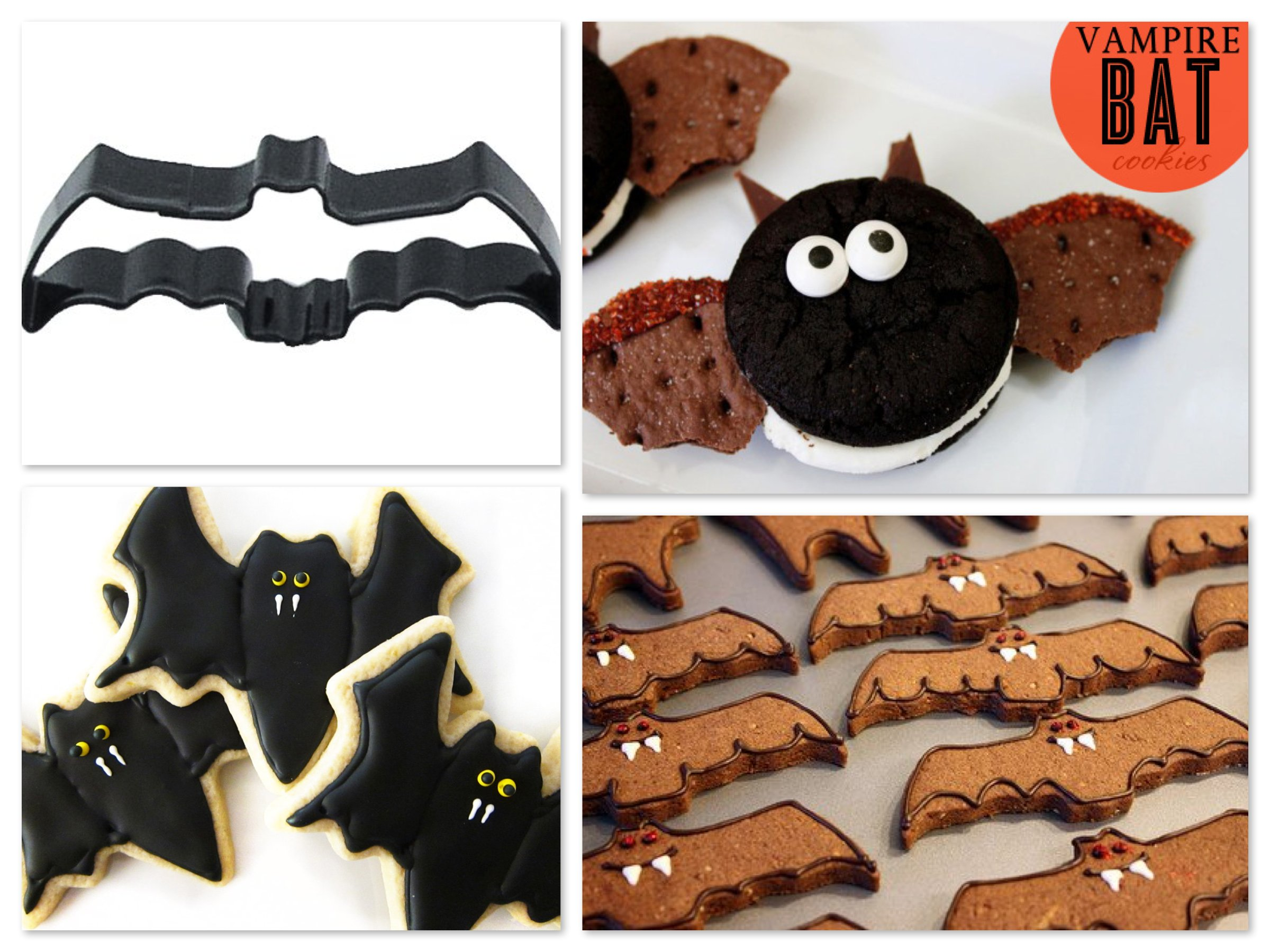 Vampire Bat Halloween Cookies, Halloween in the Classroom