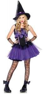 Wicked Purple Witch Tween Costume