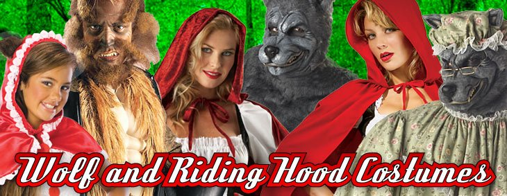Wolf and Riding Hood Couples Costumes