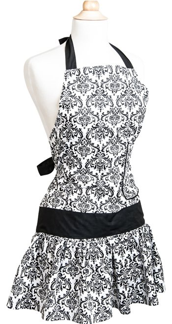 Womens-Flirty-Apron-Classic-Black-Damask