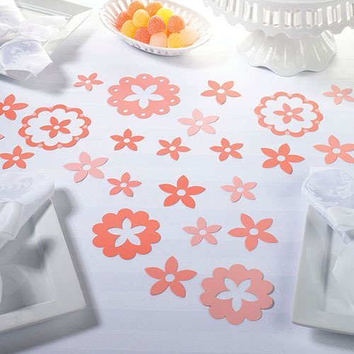 field of flowers party confetti