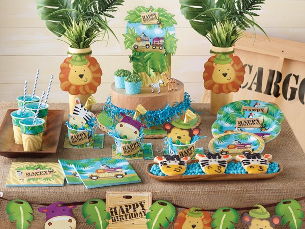 Hippo Jungle Safari Theme Partyware