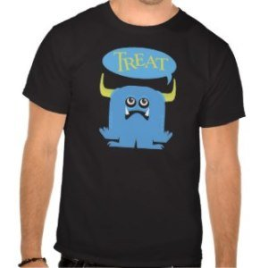 treat couples halloween costume t-shirts