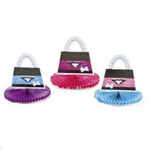 3 Piece Fashion Puppy Purse Centerpiece Set