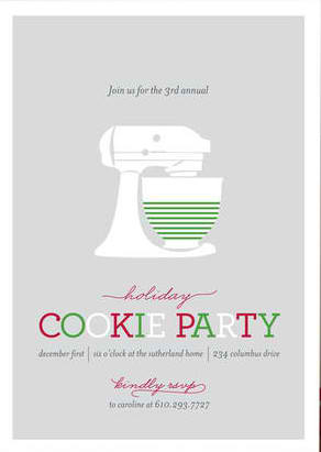 Annual Cookie Holiday Party Invitation, Best Holiday Party Invitations