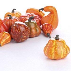 Autumn Mixture of 12 Artificial Gourds and Pumpkins