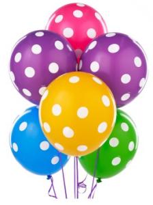 Big Polka Dot Latex Balloons