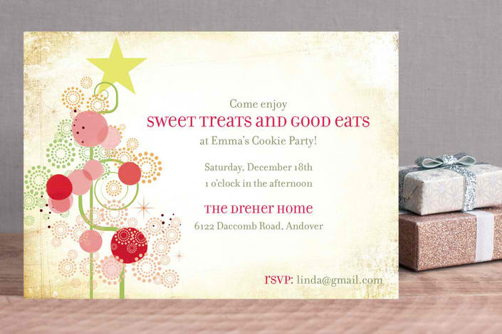 Candy Tree Holiday Party Invitations, Best Holiday Party Invitations