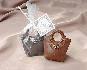 Chocolate Purse Favor with Personalized Tag
