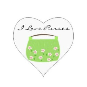 Cute Green Floral Purse Stickers