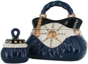 David's Cookies Navy Handbag w: Cookie TreatSize Jars