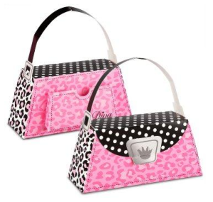 Diva Zebra Print Empty Favor Boxes