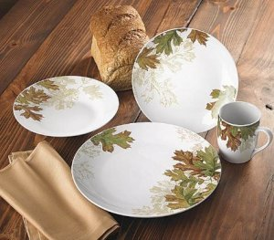 Fall Leaves 16 Piece Dinnerware