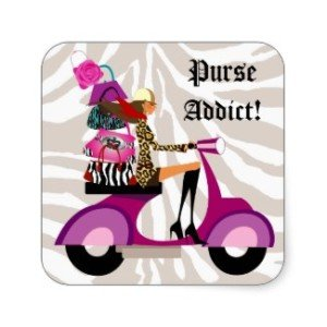 Fashion Stickers Scooter Woman Purses Zebra