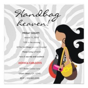 Fashionista Handbag Heaven Invitation