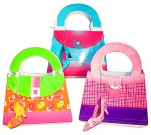 Girlie Gift Bags With Shoe Tags Purse Lover Party