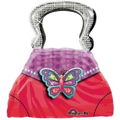 Glitzy Girl Purse Shape Mylar Balloon