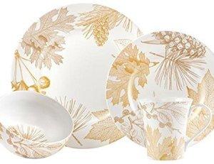 Golden Foliage 16 piece Dinnerware Set