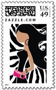 HIGH FASHIONISTA ZEBRA stamp