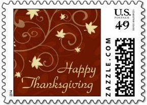 Happy Thanksgiving Fall Swirls Stamps