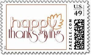 Happy Thanksgiving US Postage Stamp