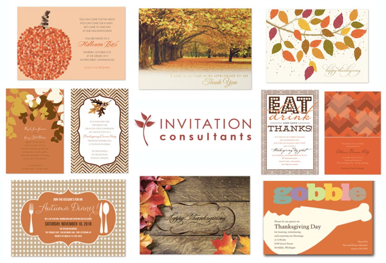 Invitation Consultants Thanksgiving Invitations
