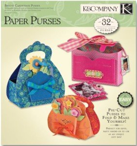 K & Company Paper Crafting Pad Bright Cardstock Purses K624924