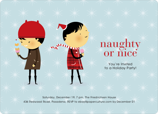 Naughty or Nice Holiday Party Invitations, Best Holiday Party Invitations