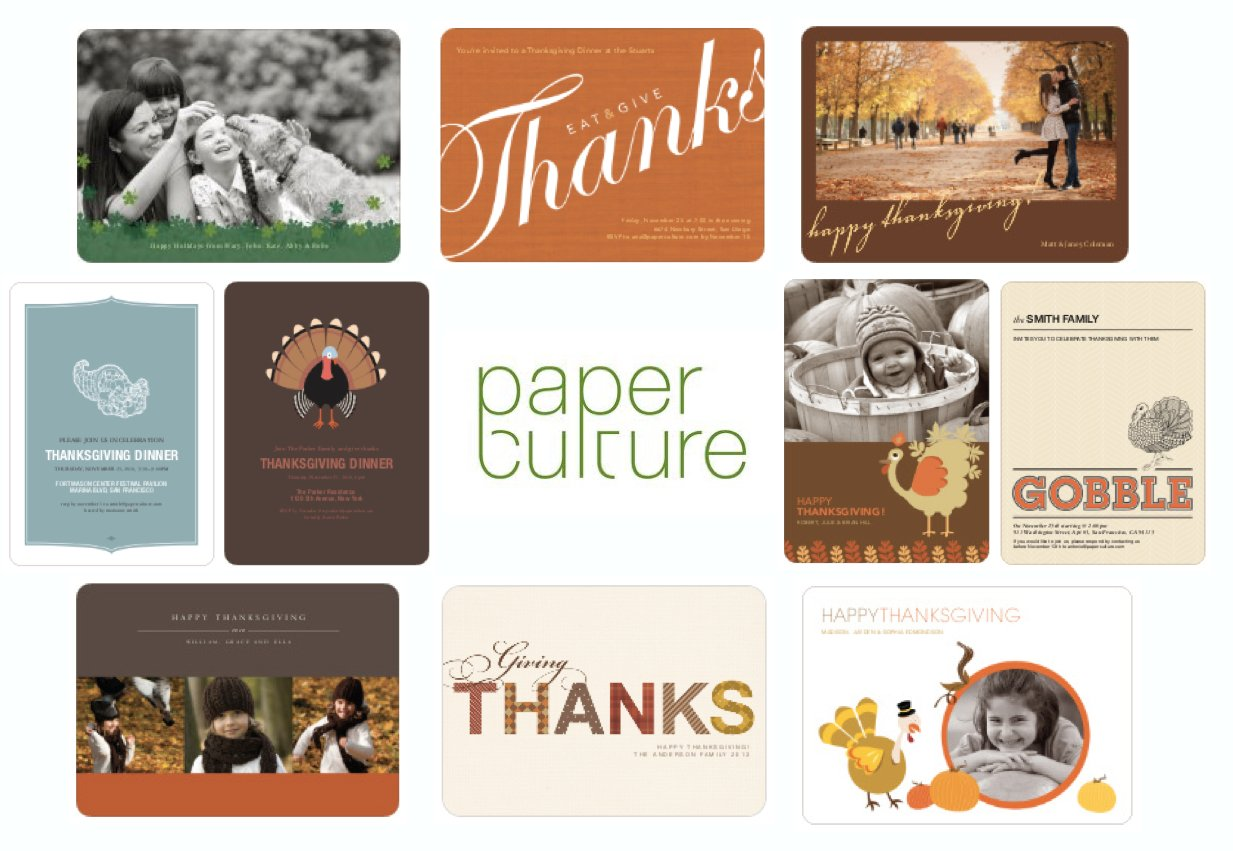 Paperculture Thanksgiving Invitations