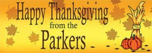 Personalized Thanksgiving Banner