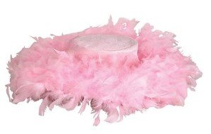 Pink Feather Tea Party Hat