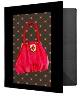Pink Patent Shoulder Bag Vinyl Binder