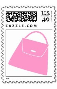 Pink Purse Postage Stamp