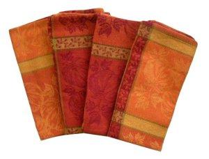 Plaid Pumpkins Cloth Napkins
