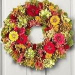 Preserved Zinnia Garden Wreath