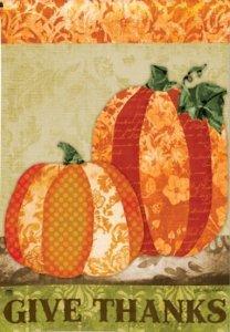 Pumpkin Tapestry Garden Flag