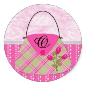 Purse Monogram O Sticker