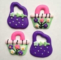 Purse Sugar Decorations Cookie Cupcake Cake 12 Count